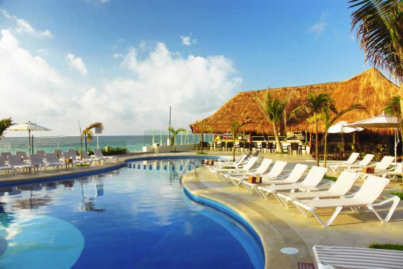 The main pool at Desire Resort and Spa Riviera Maya